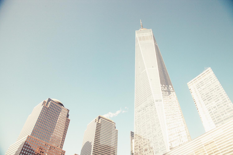 Photo montrant des gratte-ciel américains