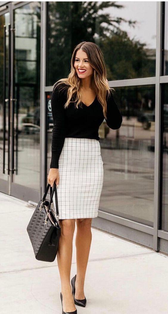 Une tenue Working Girl raffinée et féminine